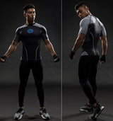 IRON MAN SHORT SLEEVE COMPRESSION SHIRT - FANATICS365