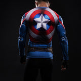 CAPTAIN AMERICA LONG SLEEVE COMPRESSION SHIRT - SHIELD - FANATICS365