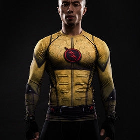 REVERSE FLASH LONG SLEEVE COMPRESSION SHIRT - FANATICS365