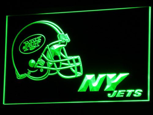 Jets Helmet Pub Light Signs - FANATICS365