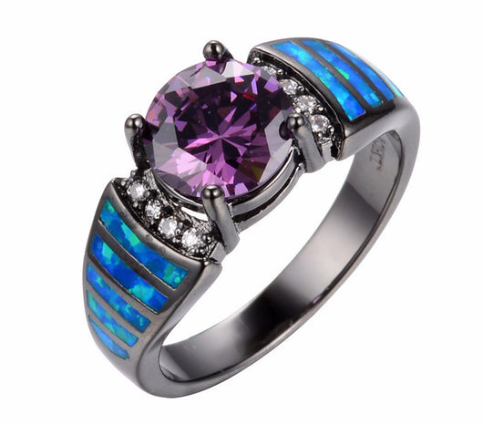 Blue Opal Ring - FANATICS365