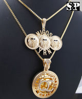 "Quavo Iced Out 16"" Cuban Choker Chain & QC, Migos Pendant Necklace - FANATICS365"