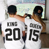 King & Queen Couples T Shirts - FANATICS365
