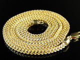 1/20Th 10K Yellow Gold Franco Box Cuban Chain Necklace Mens 30 Inch 3 Mm - FANATICS365