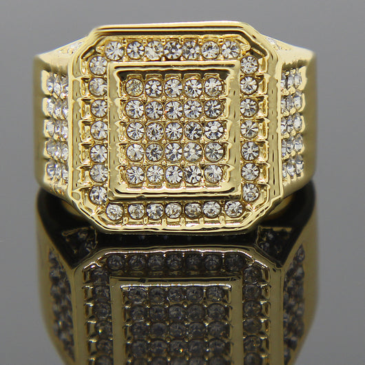 Octagon 14K GP CZ Ring - FANATICS365
