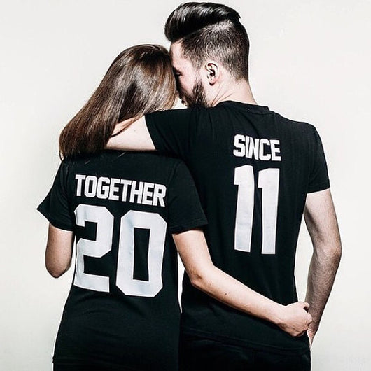 Together Since Couples T Shirts - FANATICS365
