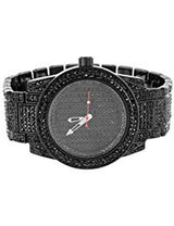 Iced Out Black Watch Bracelet Gift Set - FANATICS365