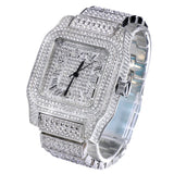 Luxury Iced Out Techno Pave Silver Tone Watch - FANATICS365