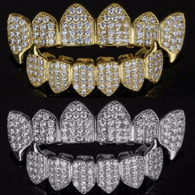 **60% OFF** 18K Gold Plated/Silver HQ CZ Fangs Grillz | Top & Bottom - FANATICS365