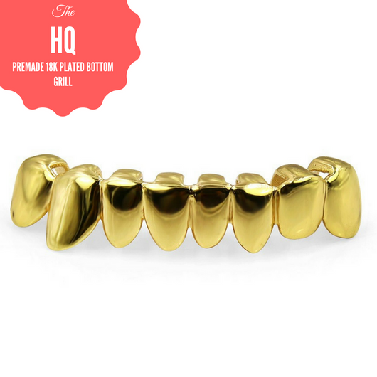 *50% OFF* - HQ Bottom Grill - 18k Gold Plated - FANATICS365