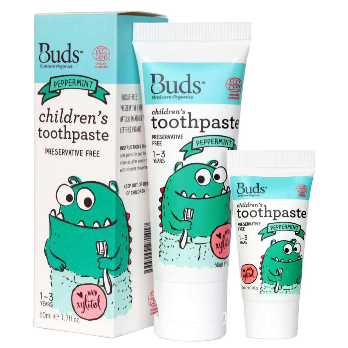 Organic Kids Toothpaste Natural Baby Childrens Buds Everyday Infant Massage Oil 100ml Peppermint With Xylitol 50ml