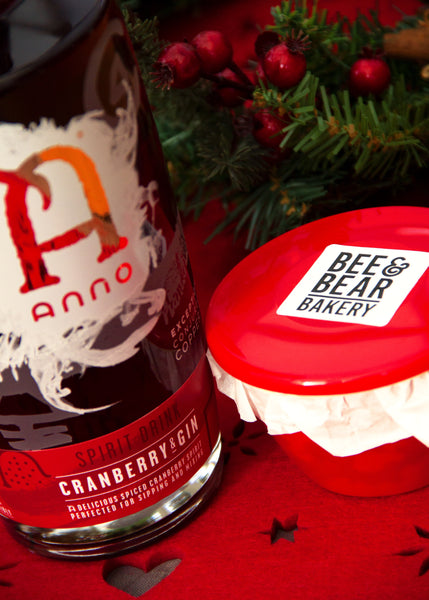 Anno Cranberry Gin Christmas Pudding - Gluten-Free