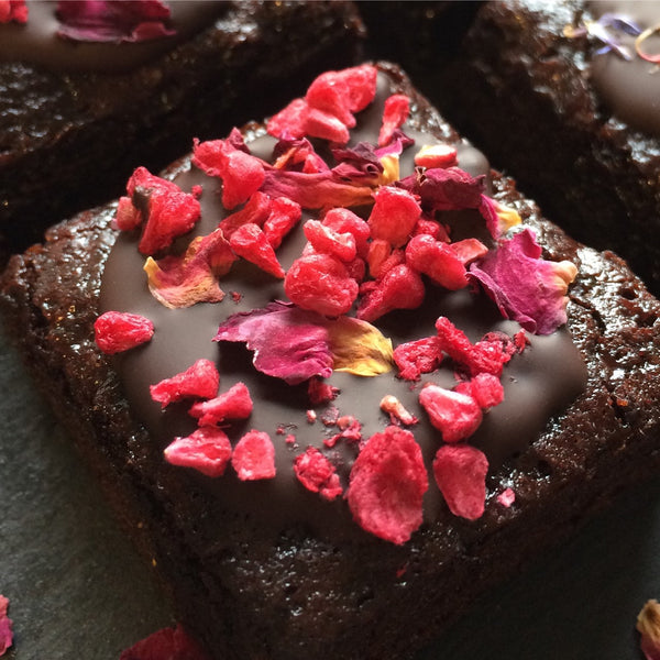 Raspberry & Rose Brownie