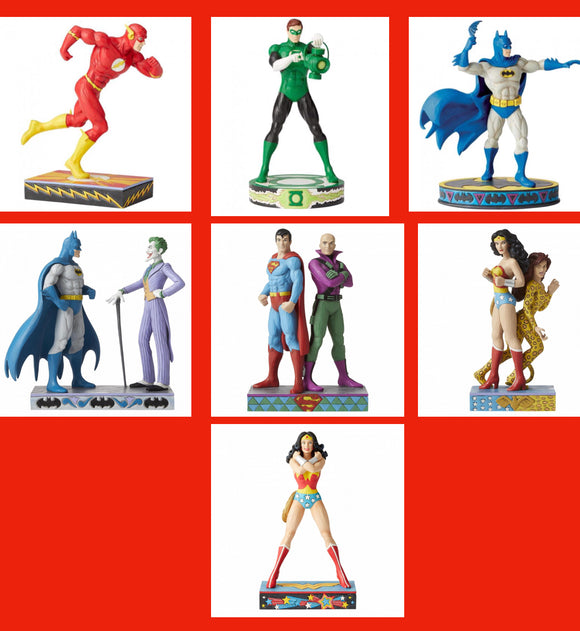 DC Silver Age statues by Jim Shore 8 to choose from