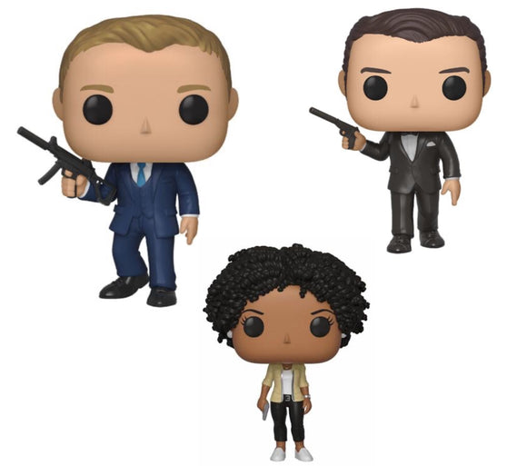 James Bond pop vinyls 3 to choose from