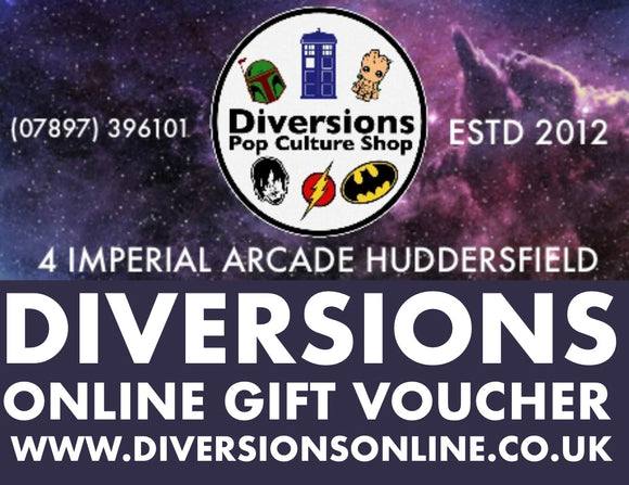 Diversions Gift vouchers from just £5