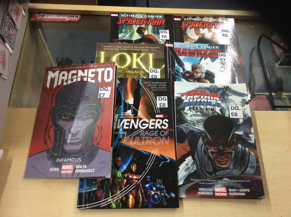 Preowned Marvel graphic novels 7 to choose from