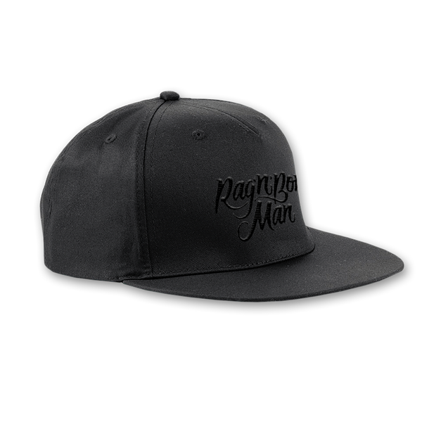 EMBROIDERED BLACK SNAPBACK