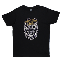 BRONZE LOGO SUGAR SKULL BLACK T-SHIRT
