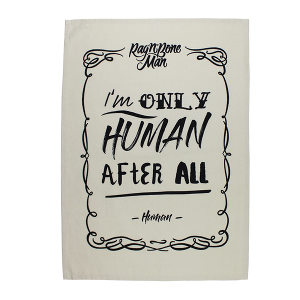 HUMAN LYRICS NATURAL TEA TOWEL
