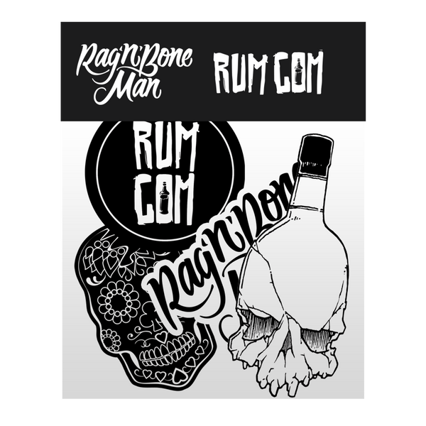 RUM COM STICKER SET