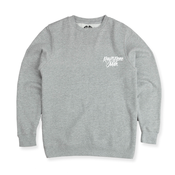 EMBROIDERED RAG 'N' BONE GREY SWEATSHIRT