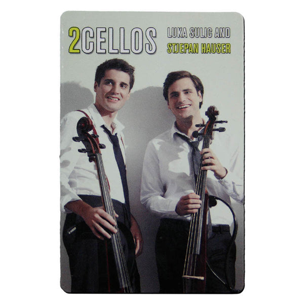 2CELLOS PHOTO FRIDGE MAGNET