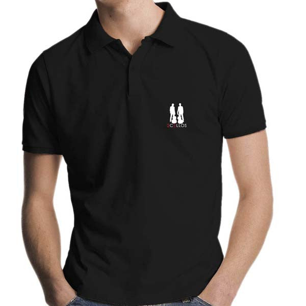 Embroidered Logo Black Polo Shirt