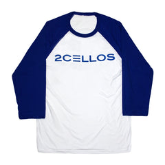 2CELLOS '2C' BLUE & WHITE BASEBALL T-SHIRT