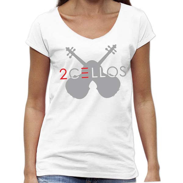WHITE CROSS CELLOS WOMEN'S SCOOP NECK T-SHIRT