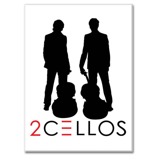 2CELLOS FRIDGE MAGNET
