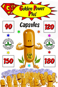 GG GOLDEN POWER PLUS™ CAPSULES Turbo-charged turmeric supplement!