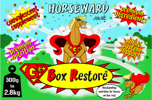 GG BOX RESTORE™ Exceptional nutritional support for horses on box rest