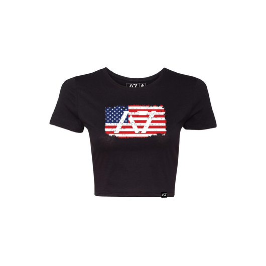 WOMEN`S CROP TOP - AMERICANA