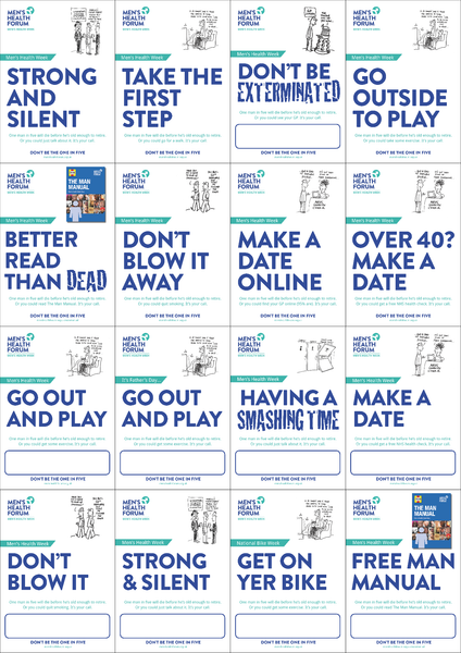 Don't be the one in five - Poster Pack - 17 posters (pdf)