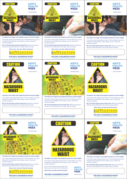 Hazardous Waist - Poster Pack (NO DATES) - 9 posters (pdf)