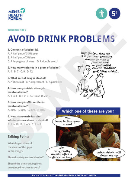 Toolbox Talk 5: Avoid drink problems (PDF + 3 days trial video)