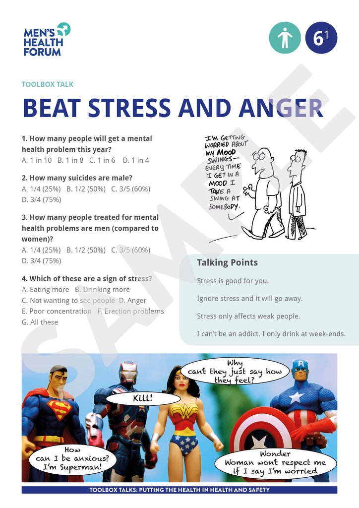 Toolbox Talk 6: Beat Stress & Anger (PDF - Free for Men's Health Week 2020)