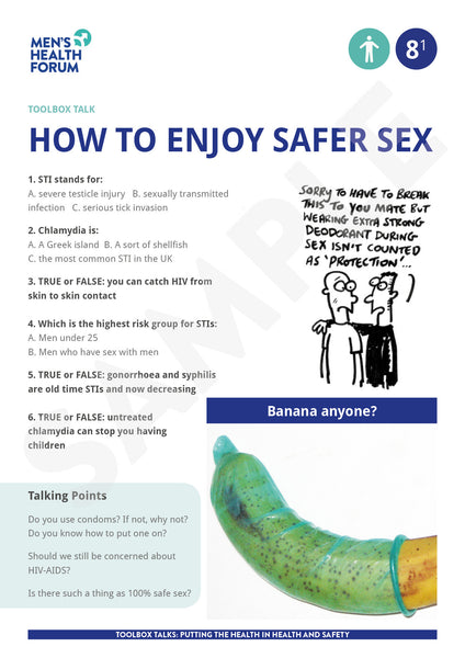 Toolbox Talk 8: How to enjoy safer sex (PDF)