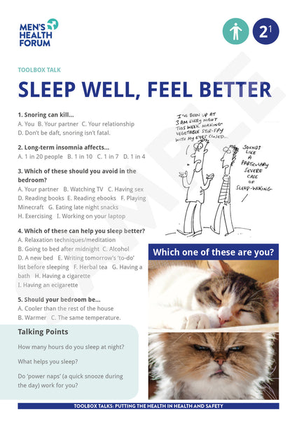 Toolbox Talk 2: Sleep Well, Feel Better