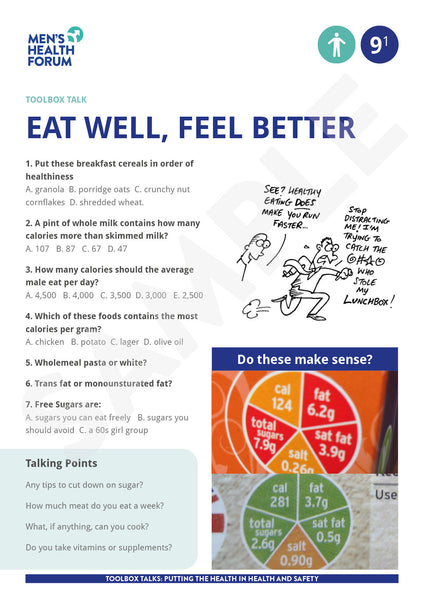Toolbox Talk 9: Eat well, feel better (PDF)
