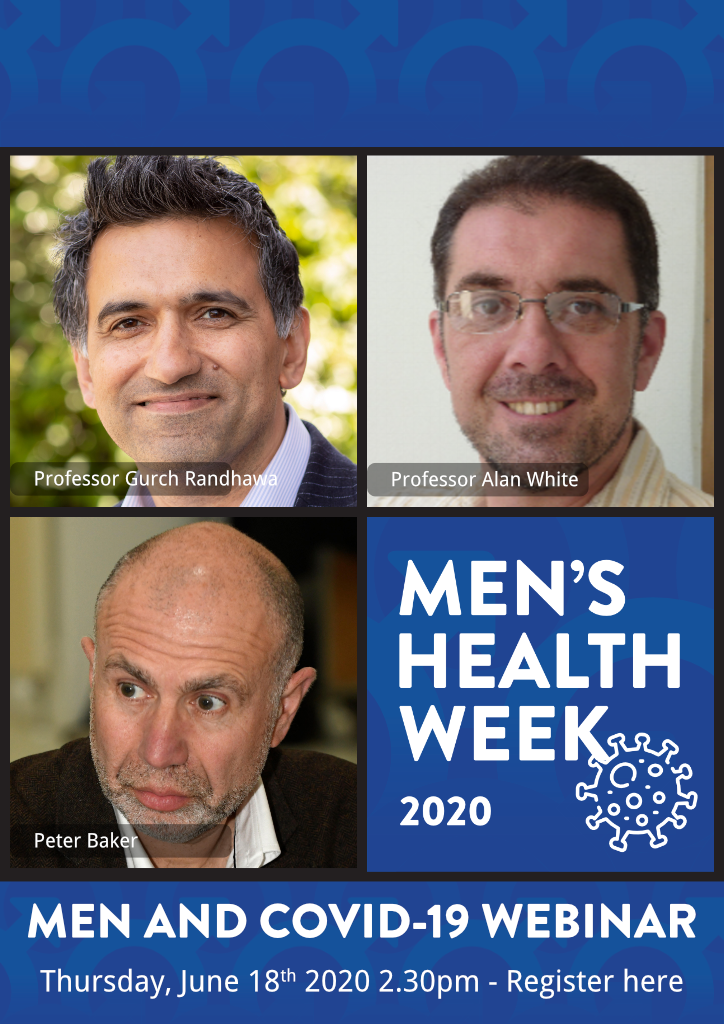 Webinar - Men & COVID-19: new lessons learned + the challenge of inequality (Thursday, June 18th, 2.30 pm)