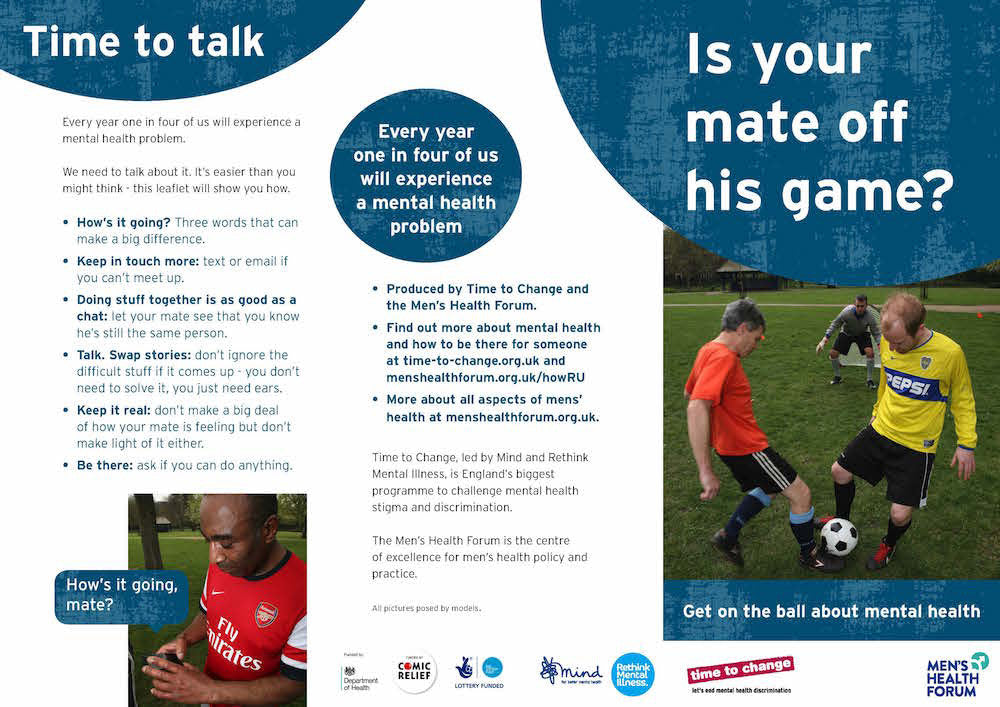 Is Your Mate Off His Game? Leaflet