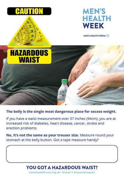 Hazardous Waist clothed belly poster - with text box (PDF)