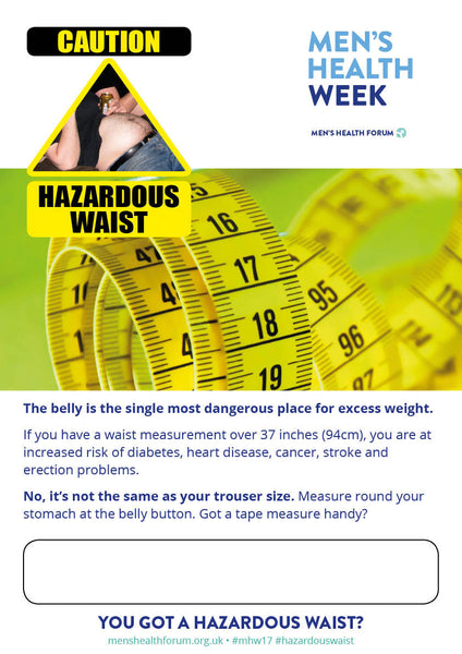 Hazardous Waist tape measure poster - with text box (PDF)