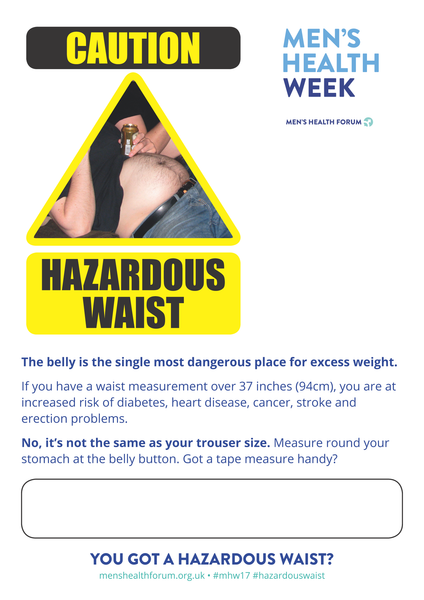 Hazardous Waist - Icon Posters - Men's Health Week 2017 (pdf)
