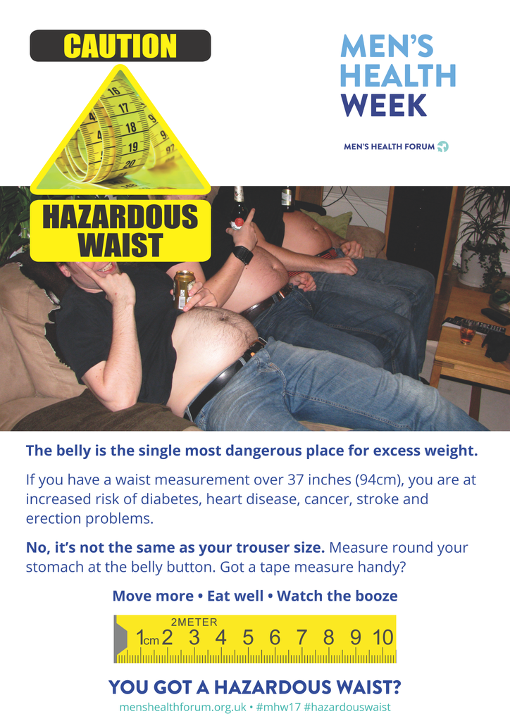 Hazardous Waist - Belly Posters - Men's Health Week 2017 (pdf)