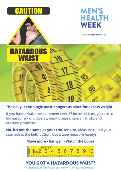 Hazardous Waist - Tape Measure Posters - Men's Health Week 2017 (pdf)