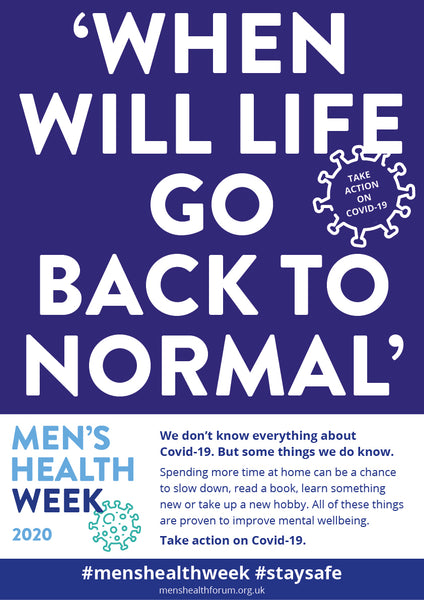 #menshealthweek Take Action on Covid-19 Poster Pack - 14 posters (pdf)