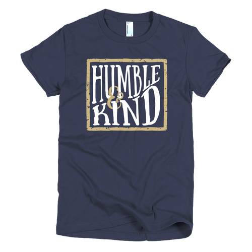 Humble and Kind Women's Navy T-Shirt